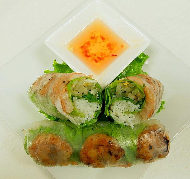 Grilled Shrimp Summer Rolls (2) / Gỏi Cuốn Tôm Nướng