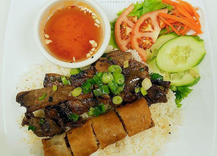 Grilled Pork w/ Egg Rolls / Heo và Chả Giò